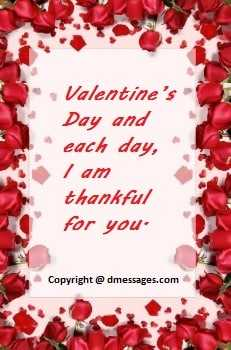 Happy valentines day message to my husband
